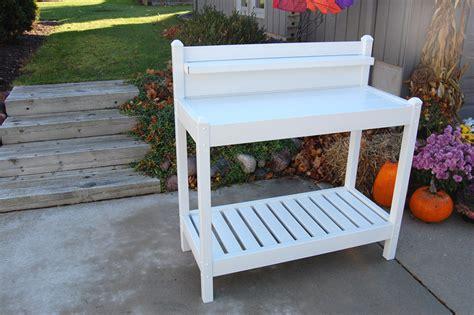 white potting bench dura trel greenfield potting bench white ebay
