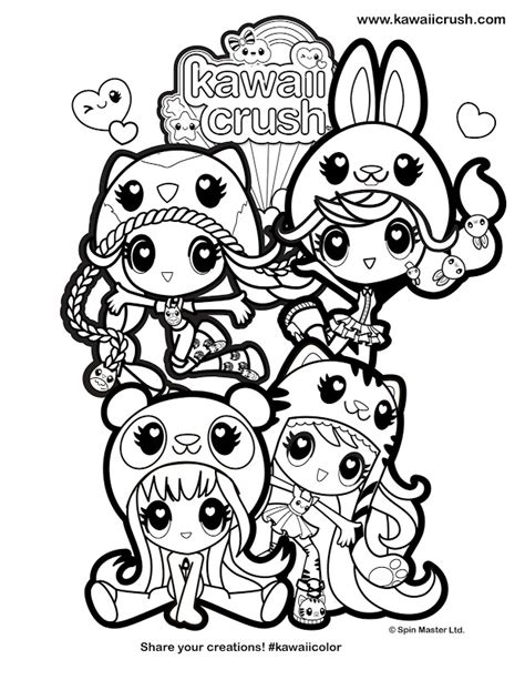 Coloring Pages Of Kawaii Crush | image gallery kawaii crush coloring pages