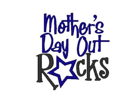 mothers day out school embroidery design