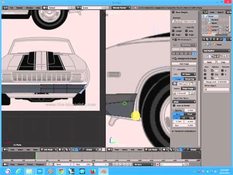 tutorial blender modeling car tutorial blender how to create camaro car ss 1969 part 1