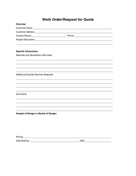 Job Order Request Form Driverlayer Search Engine Work Order Request Template
