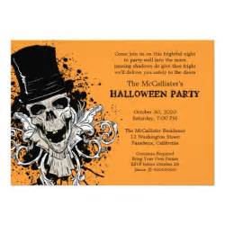 fright skull costume 5x7 paper invitation card zazzle