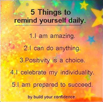 5 things to remind yourself daily school affirmation