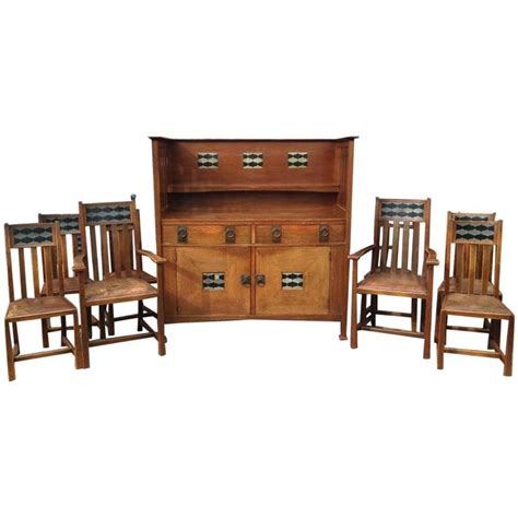 Matching Oak Furniture by Stunning Arts And Crafts Oak Sideboard And Matching Eight