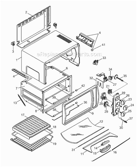 Delonghi Toaster Oven Replacement Parts Delonghi Xu625w Parts List And Diagram Ereplacementparts Com