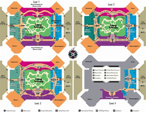 mall of america floor plan image gallery moa map