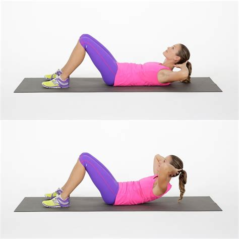 basic crunch beginner ab workout popsugar fitness photo