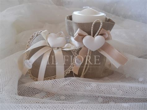 sacchetti per candele linea shabby chic bomboniera shabby chic matrimonio