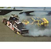 Ken Schrader 36 Slams Into Dale Earnhardt 3 During The Final Lap