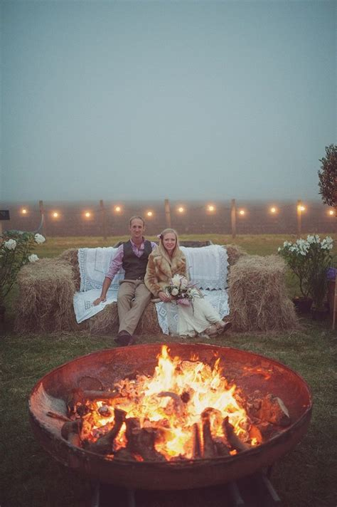 unique wedding reception ideas on a budget uk unique wedding reception ideas on a budget outdoor hay bale seating area with pit lit up