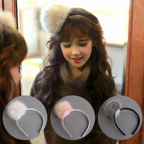 Hair Band 01 korea winter hair accessories lovely wool pearl