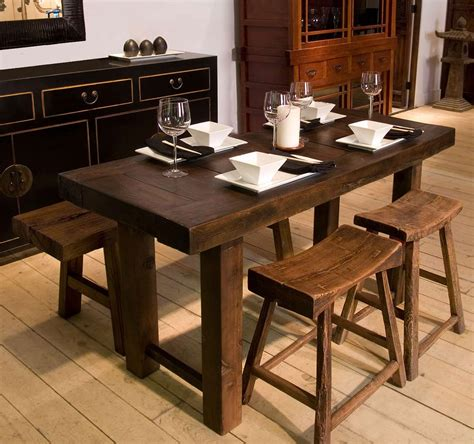 narrow rustic dining table narrow dining table set with benches from indoor furniture