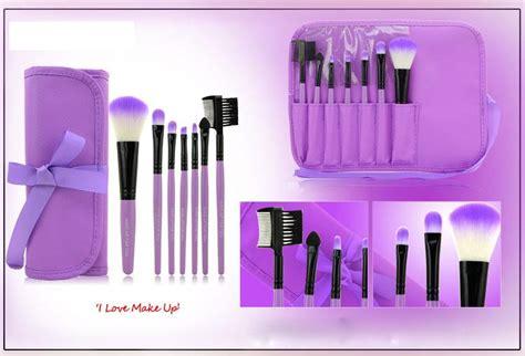 Kuas Make Up Set 12 Pc Marron Makeup Brush Quality professional makeup brush tools for make up brushes set color cosmetic