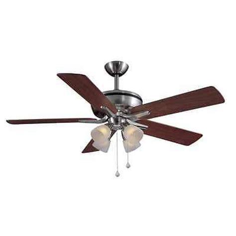 harbor breeze brushed nickel ceiling fan harbor breeze 52 inch brushed nickel ceiling fan w remote