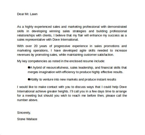marketing consultant cover letter sle marketing cover letter template 9 free