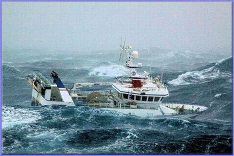 fishing ship in storm foul weather gear for offshore sailing heavy weather