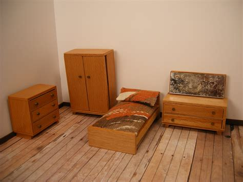 vintage doll house furniture mid century modern bedroom set