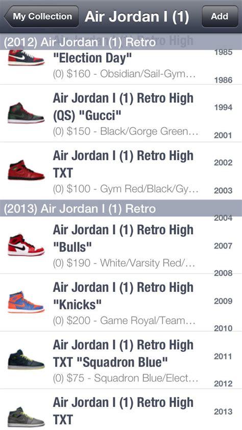 sneaker price guide app spg sneaker price guide release dates apppicker