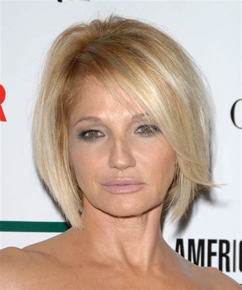 ellen barkin medium straight formal hairstyle