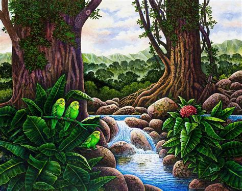 jungle painting jungle harmony v painting by michael frank