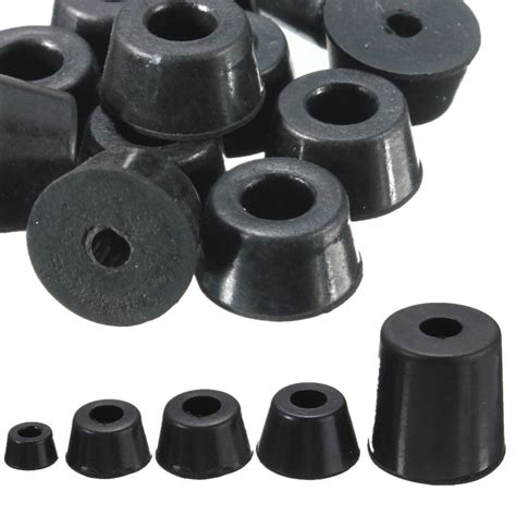rubber chair pads multi type multi size conical recessed rubber bumpers