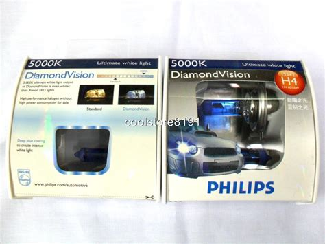 Lu Philips Blue Vision H4 philips h4 vision 5000k 55w headlight bulbs ebay