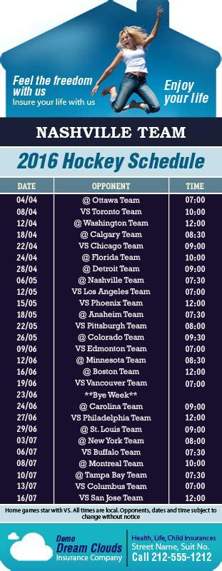 Nashville Predators Giveaway Schedule - 3 5x9 custom one team nashville team hockey schedule house shape life insurance