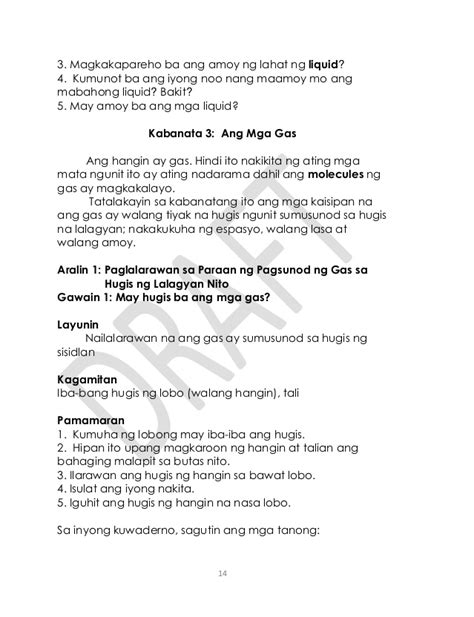 ano ang amoy ng iyong puki gr 3 science tagalog q1