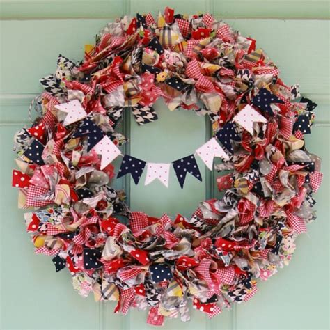 Rag Wreath - diy summer rag wreath my so called crafty