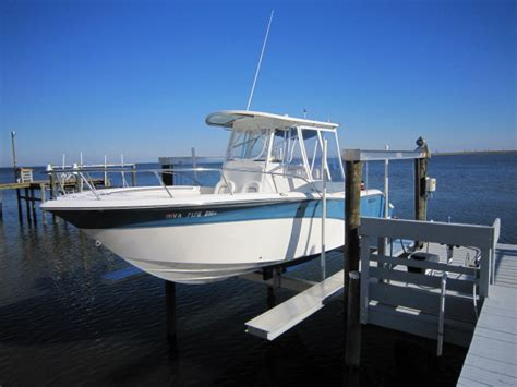 aluminum fishing boat lift boat lift is done pics the hull truth boating and