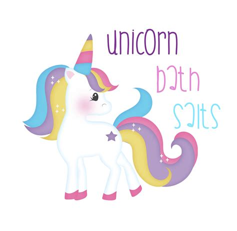 Metallic Home Decor fizzy unicorn bath salts label lydi out loud