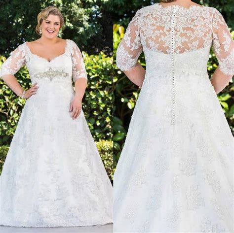 Affordable Wedding Dresses With Sleeves by Sleeve Plus Size Wedding Dresses Affordable Plus