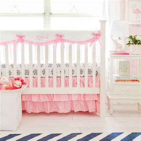 Cribcot Bumper Set Pink Blossom New pink crib rail cover set pink baby bedding baby