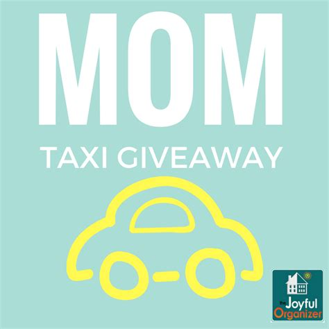 Mom Giveaways - are you a quot mom taxi quot we have a giveaway for you the joyful organizer