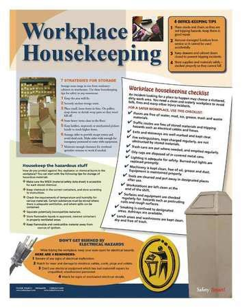 house keeping safetyposter com safety poster workplace housekeeping