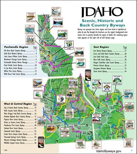 printable road map of idaho maps publications highway map idaho and city
