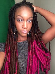 hiw to do ombre faux locs purple faux locs with quot red heart quot 100 acrylic yarn