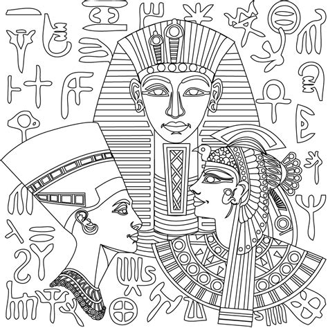 egyptian coloring book pages new egyptian coloring pages from stress relief adult