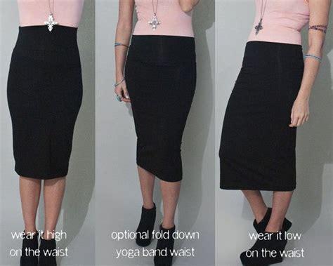 pencil skirt black below the knee choose length