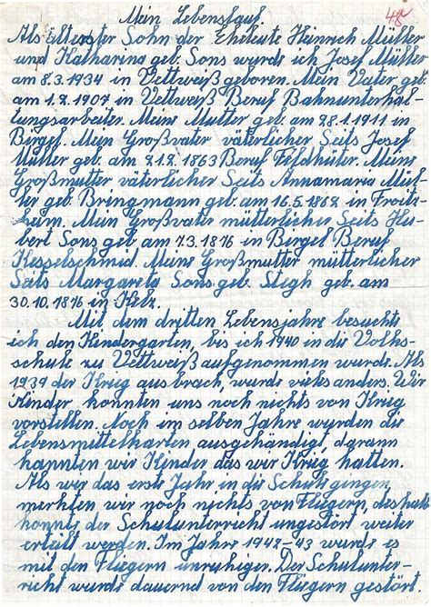 Handgeschriebener Lebenslauf Handgeschriebener Lebenslauf Lebenslauf