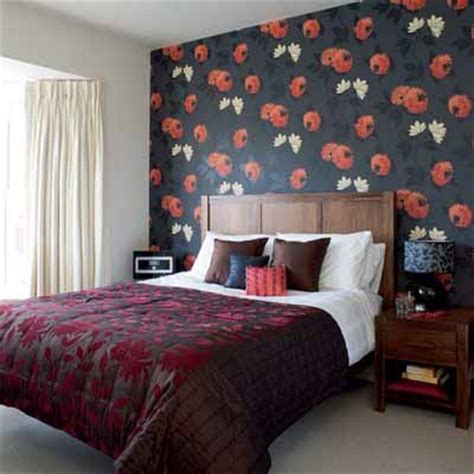 black and red bedroom walls bright bedroom wall decoration with modern wallpaper