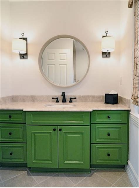 green bathroom cabinets be inspired to paint your bathroom vanity a non neutral