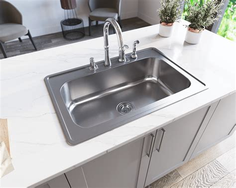 Stainless Steel Sink Bowl by Us1030t Single Bowl Topmount Stainless Steel Sink