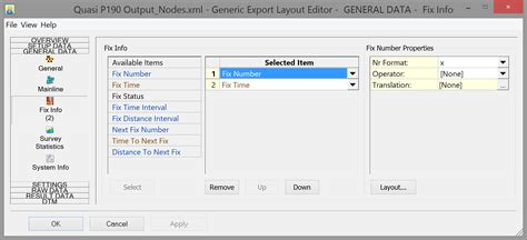 layout editor export exporting seismic all data generic