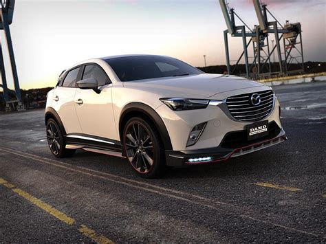 mazda cx3 custom mazda cx 3 gets aggressive body kit from damd looks like