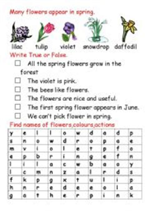 index of images printables spring english teaching worksheets flowers