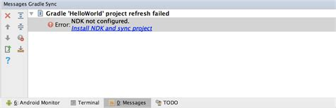 android failed how to fix gradle sync failed ndk not configured error in android studio crunchify