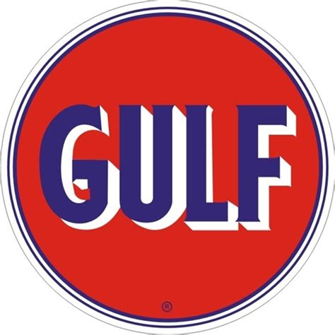 gulf oil logo gulf signpast gasoline oil 18 gauge durable steel baked