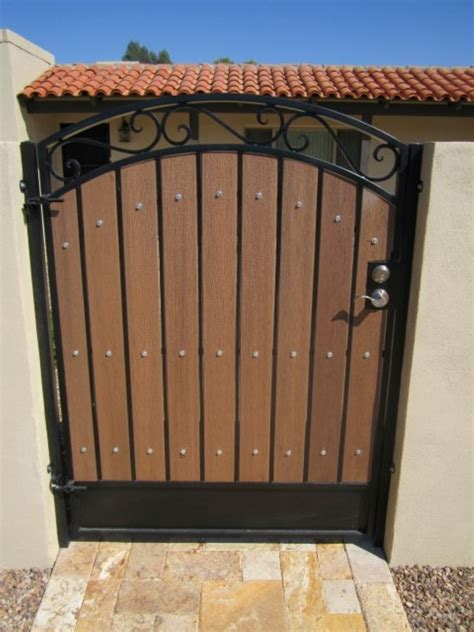 metal backyard gates gates rv courtyard