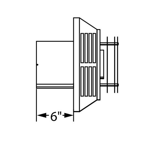 gas fireplace vent cap horizontal wall termination for 5 x 8 direct vent pipe